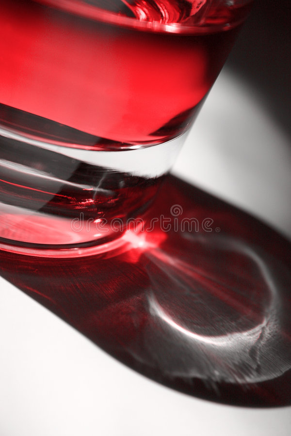 красный цвет коктеила стоковое изображение