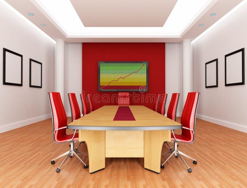 красный цвет комнаты правления иллюстрация штока