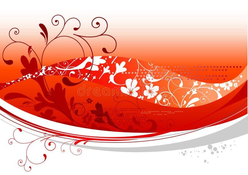 красный цвет конструкции флористический бесплатная иллюстрация