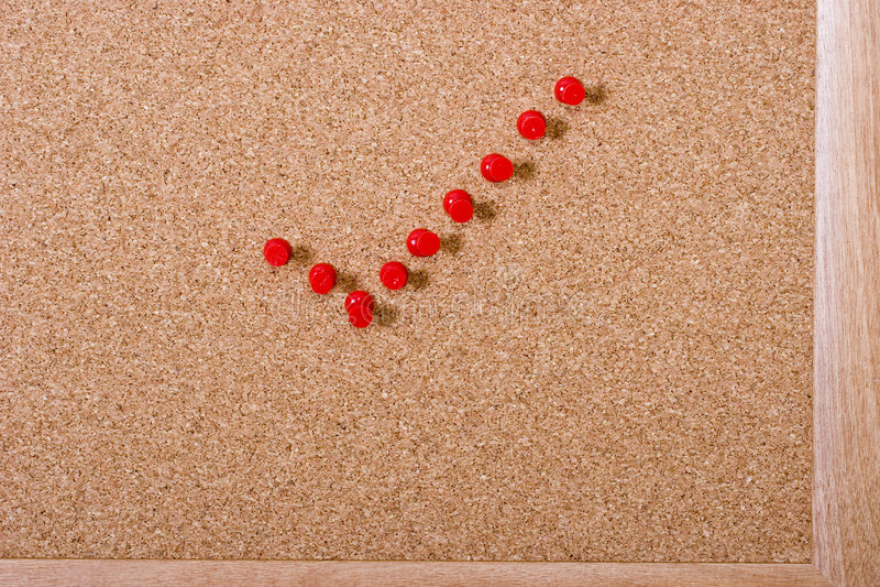 красный цвет контрольной пометки стоковые фотографии rf