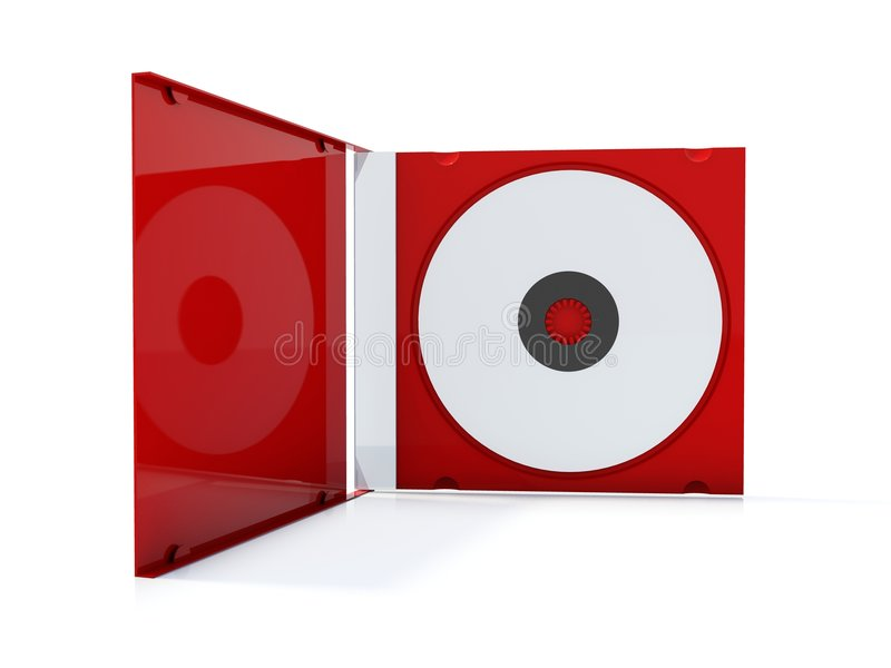красный цвет коробки cd иллюстрация штока
