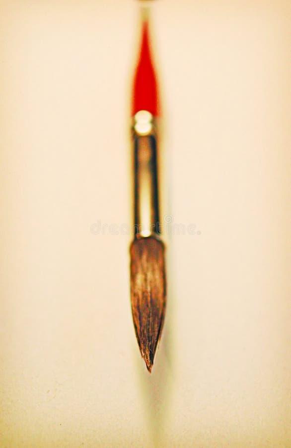 красный цвет краски детали щетки Стоковые Изображения RF