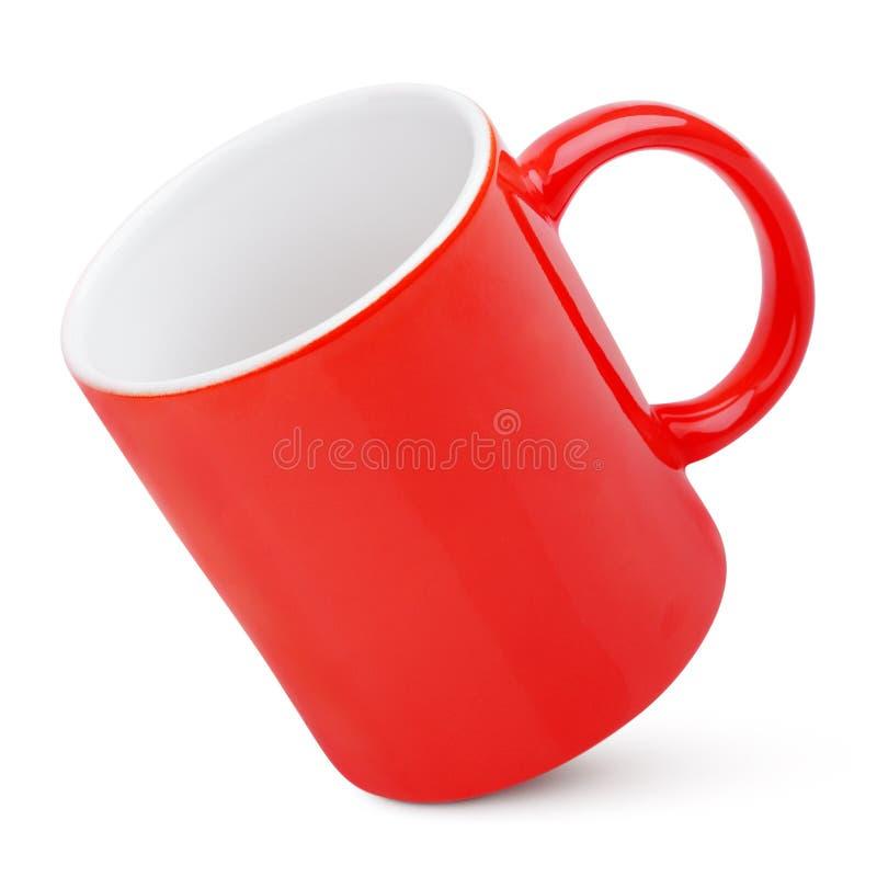 красный цвет кружки стоковое фото