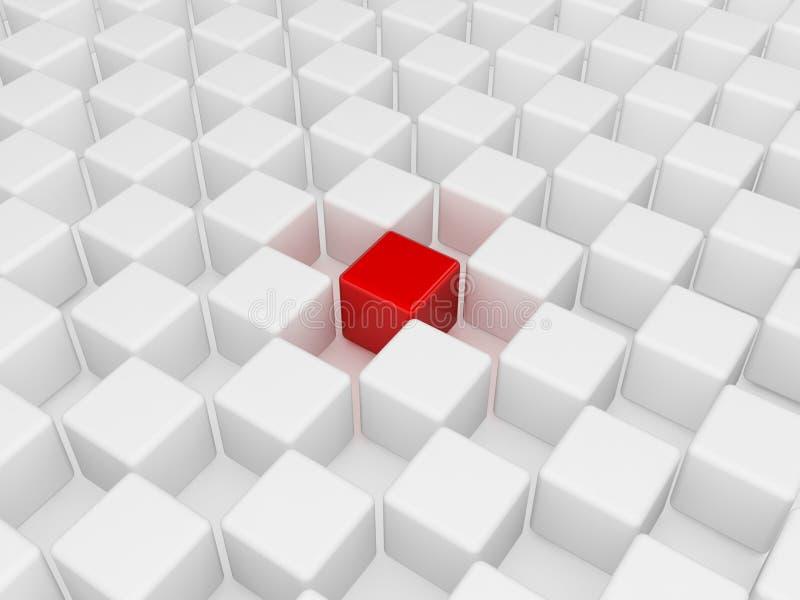 красный цвет кубика различный бесплатная иллюстрация