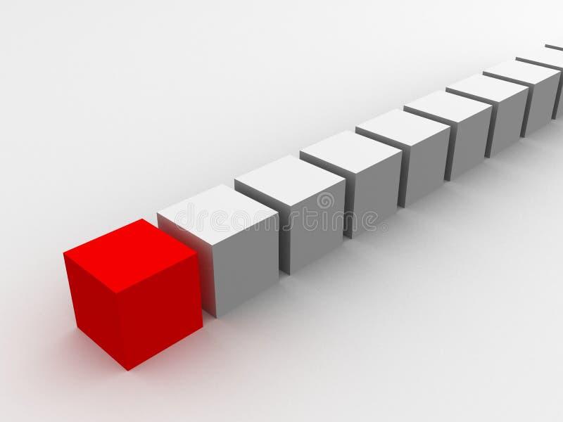 красный цвет кубика иллюстрация вектора