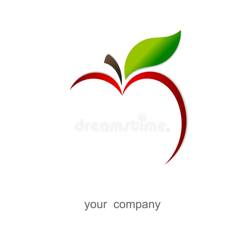 красный цвет логоса яблока иллюстрация вектора