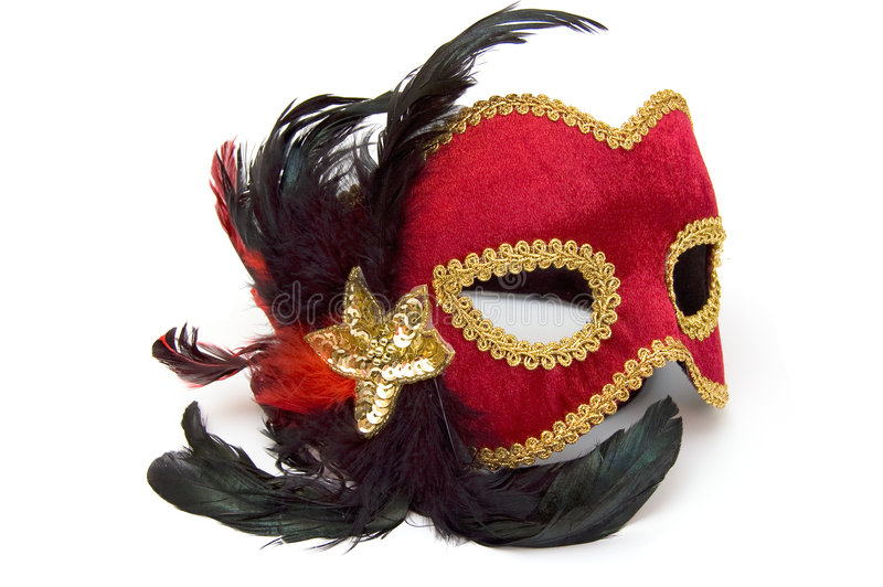красный цвет маски масленицы стоковое изображение rf
