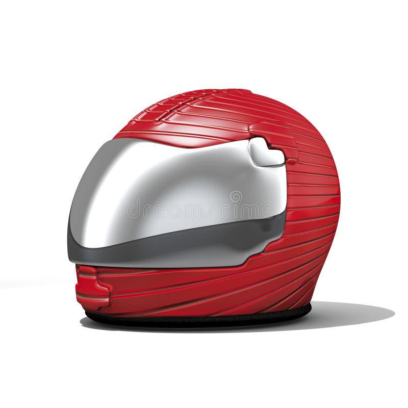 красный цвет мотовелосипеда шлема иллюстрация штока