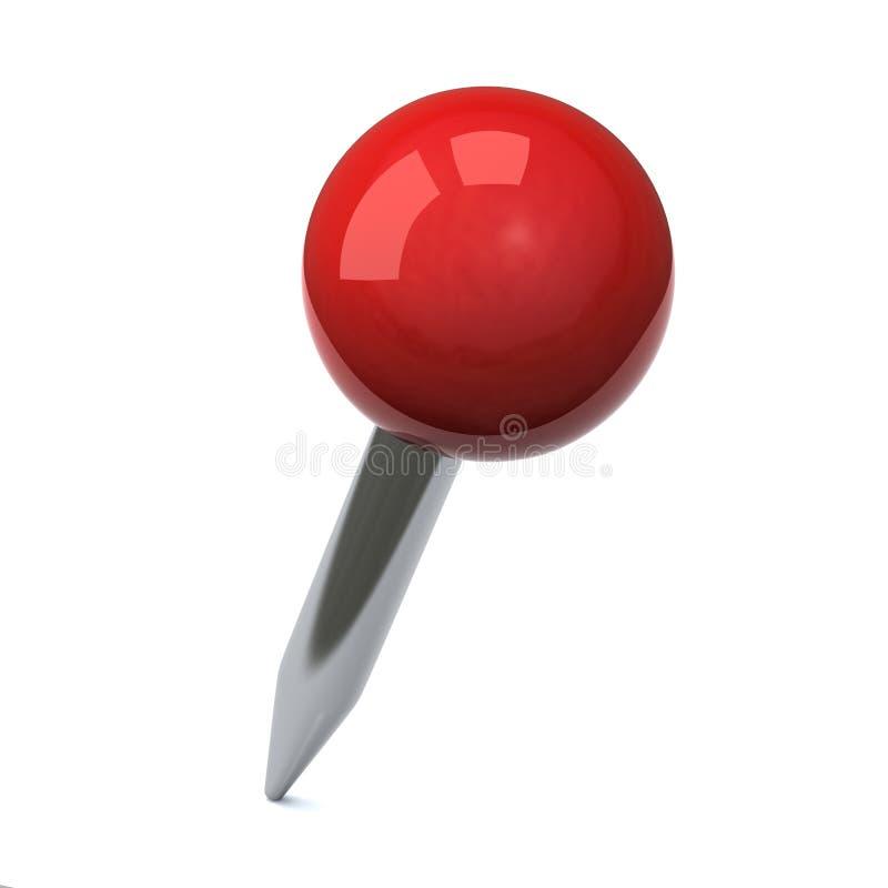 красный цвет нажима штыря 3d иллюстрация штока