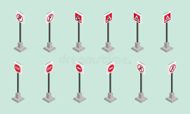 Красный цвет новостей стиля опасных дорожных знаков равновеликий бесплатная иллюстрация