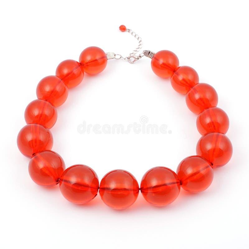 красный цвет ожерелья стоковое изображение rf