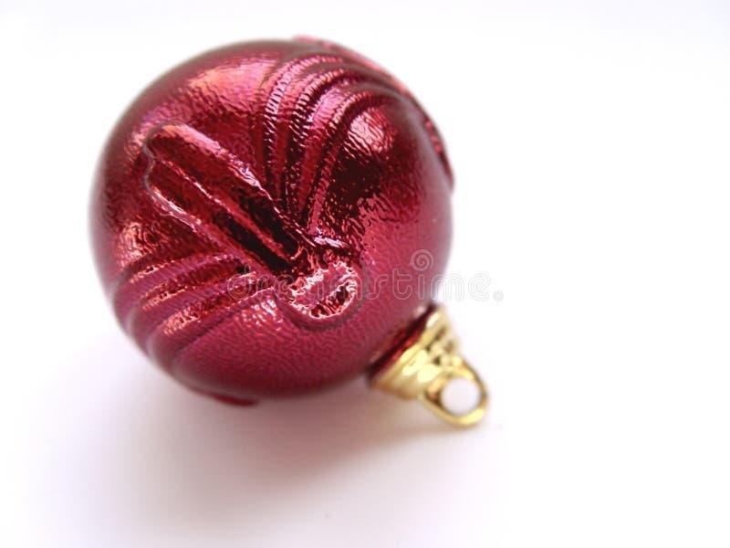 красный цвет орнамента рождества стоковое изображение rf