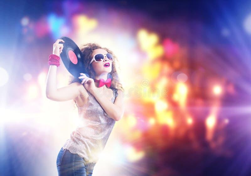 красный цвет партии девушки диско стоковые фотографии rf