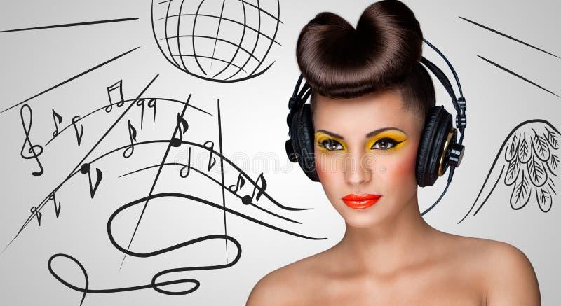 красный цвет партии девушки диско стоковое изображение rf