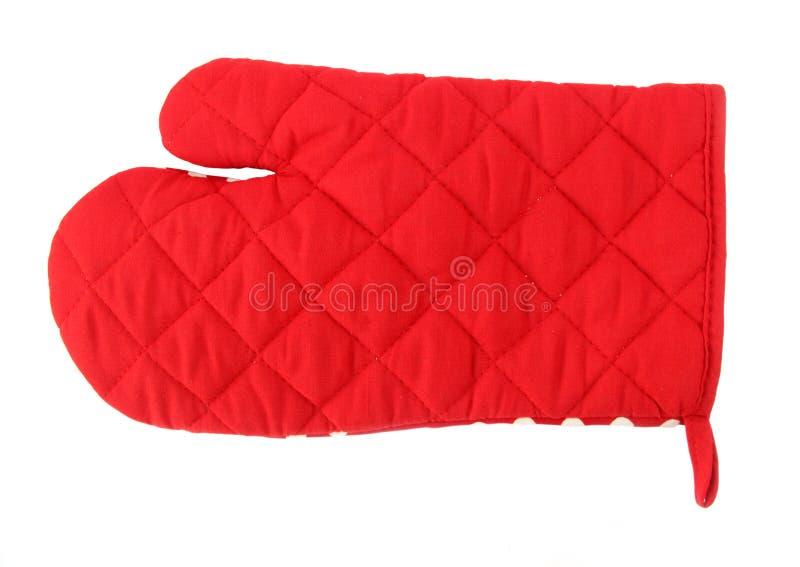 красный цвет печи перчатки стоковое изображение rf