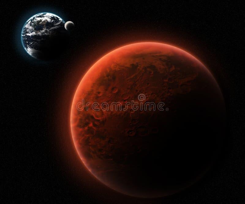 красный цвет планеты иллюстрация штока
