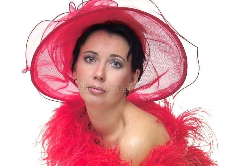 красный цвет повелительницы шлема стоковое фото rf