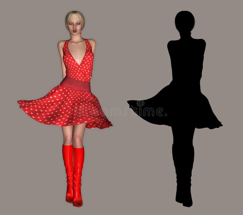красный цвет повелительницы бесплатная иллюстрация