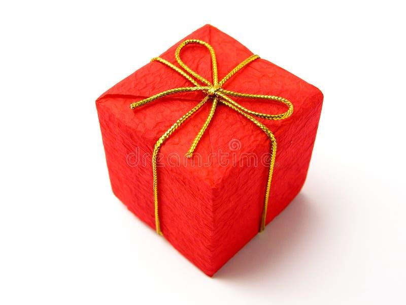 красный цвет подарка рождества стоковое изображение