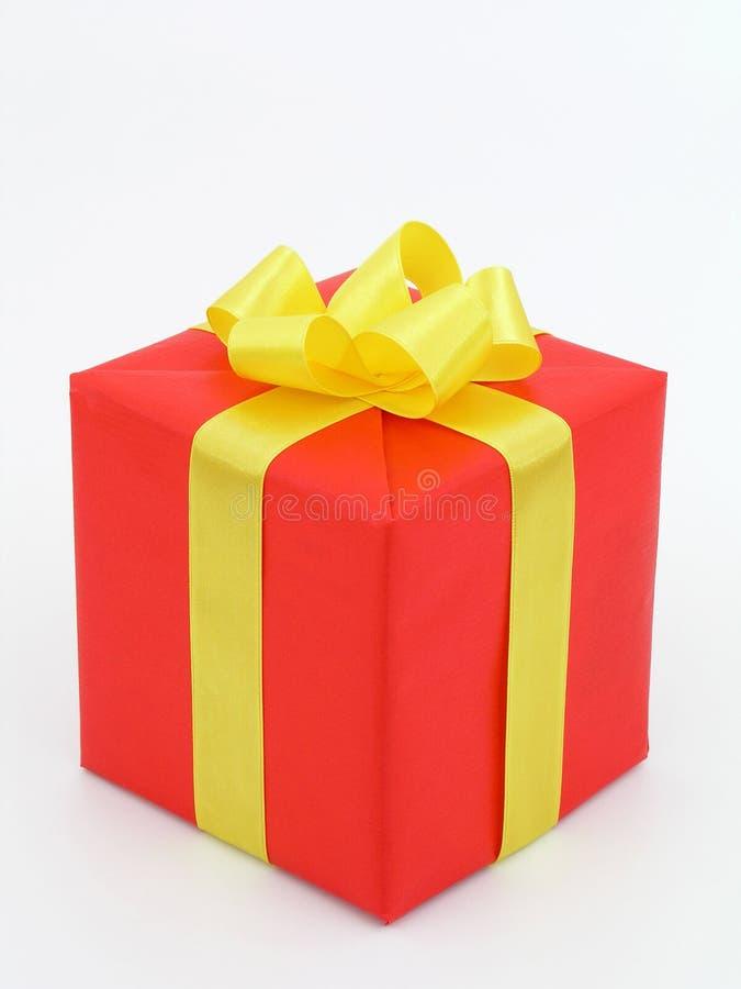 красный цвет подарка стоковые изображения