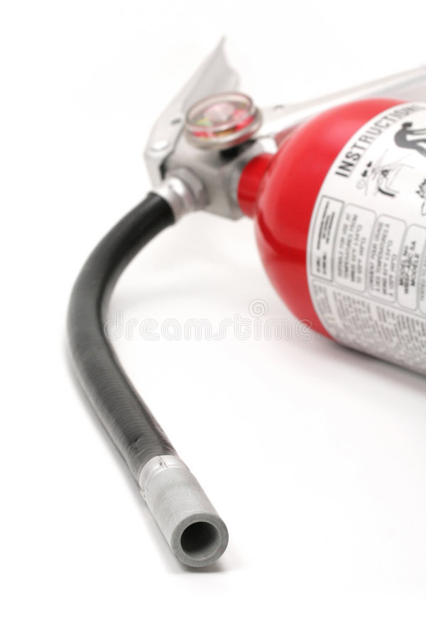 красный цвет пожара гасителя стоковое изображение