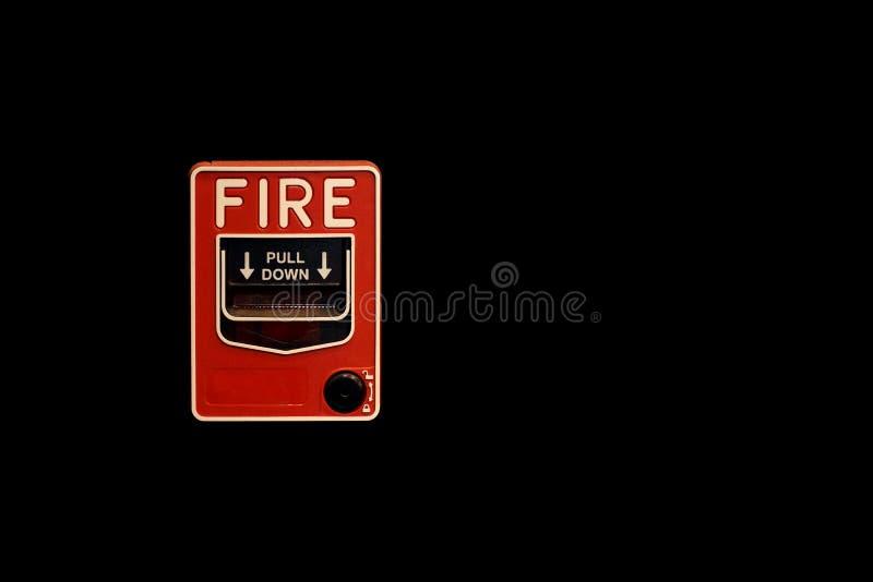 красный цвет пожара коробки сигнала тревоги стоковая фотография