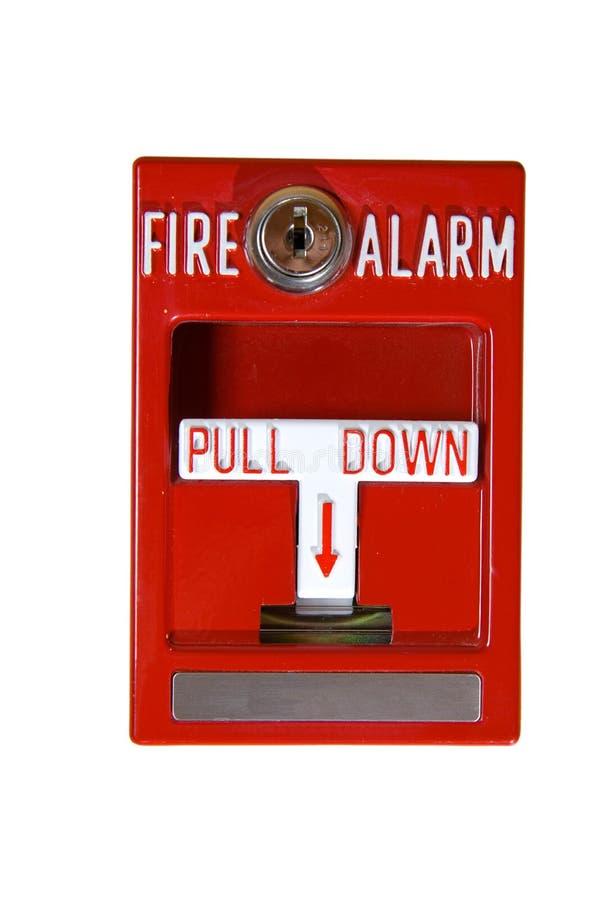 красный цвет пожара сигнала тревоги стоковая фотография