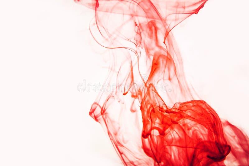 Красный цвет покрасил курорт моря неба абстракции черноты космоса голубого зеленого цвета желтого цвета предпосылки краски воды а стоковое фото