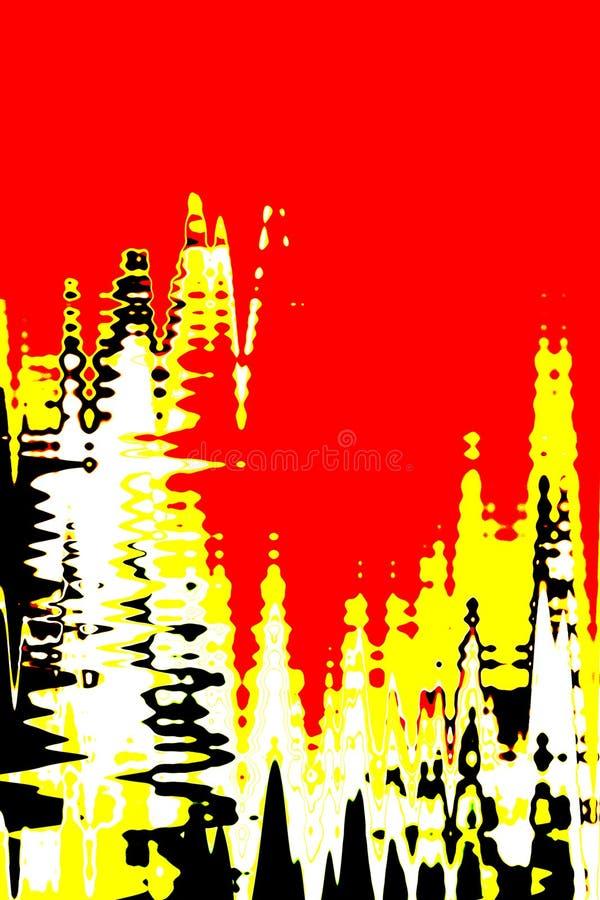 красный цвет предпосылки цифровой иллюстрация вектора