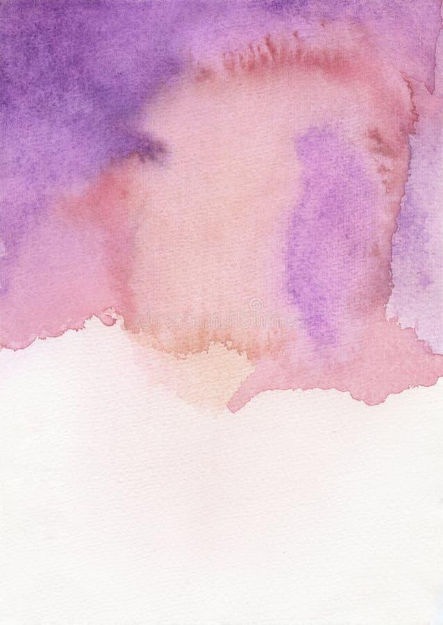 Красный цвет предпосылки акварели фиолетовый стоковые изображения rf