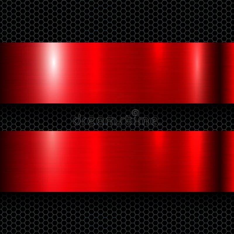 Красный цвет предпосылки металла бесплатная иллюстрация