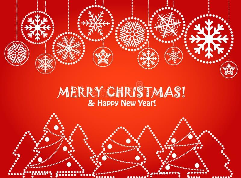 красный цвет приветствию рождества карточки бесплатная иллюстрация