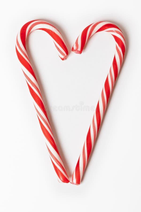 красный цвет рождества конфеты стоковые изображения rf