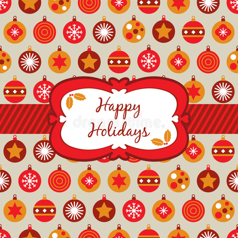 красный цвет рождества померанцовый оборачивая желтый цвет иллюстрация вектора