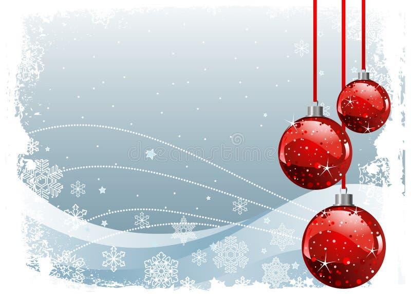 красный цвет рождества шариков бесплатная иллюстрация