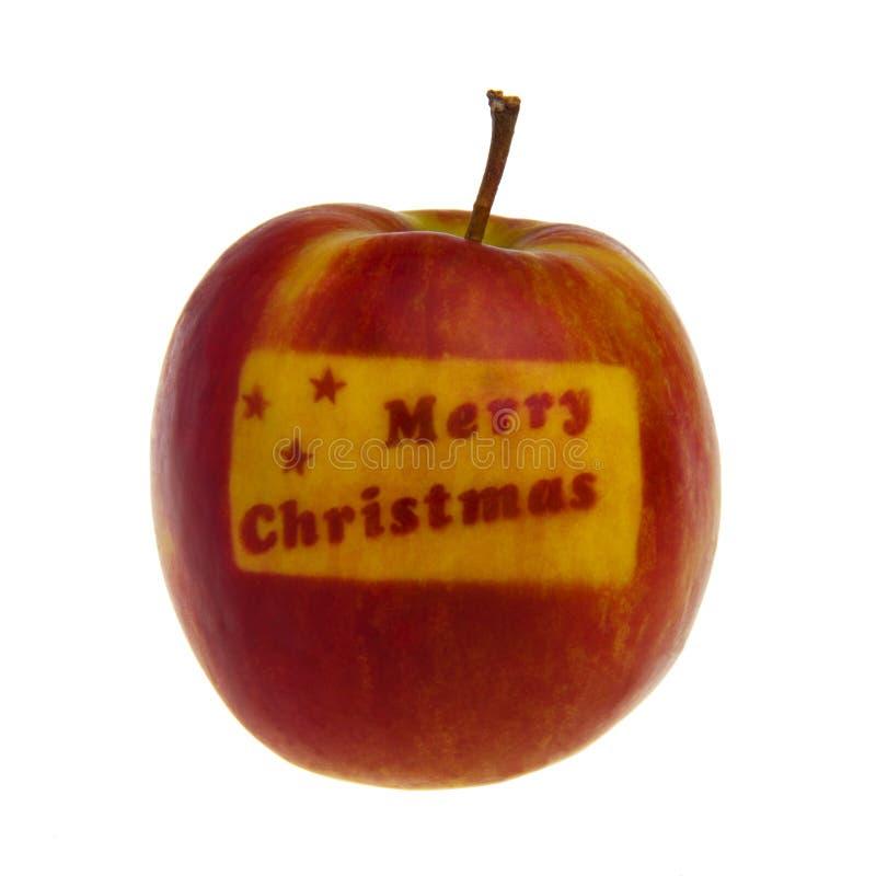 красный цвет рождества яблока стоковые изображения rf
