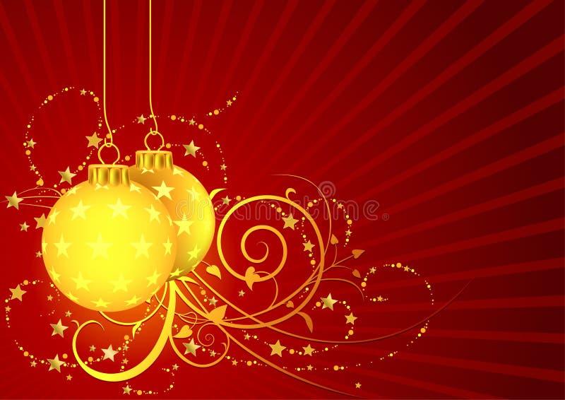 красный цвет рождества иллюстрация штока