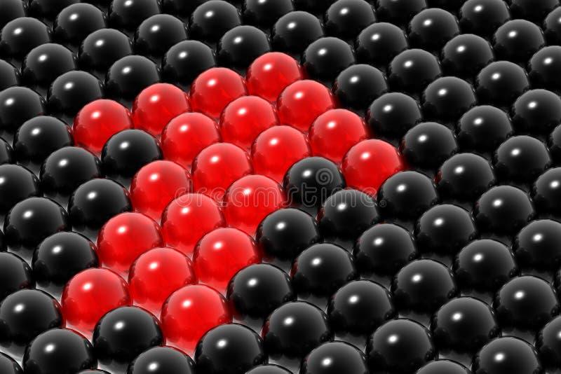 красный цвет руководства бизнесом иллюстрация штока