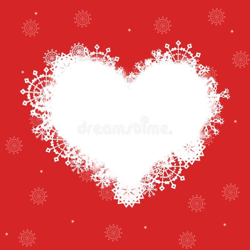 красный цвет сердца рамки иллюстрация штока
