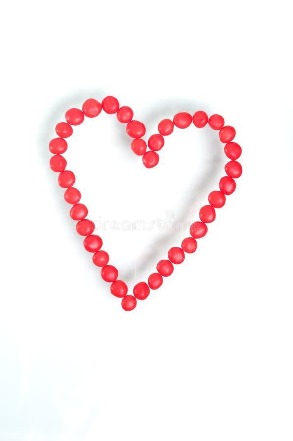 красный цвет сердца циннамона конфеты горячий стоковое фото