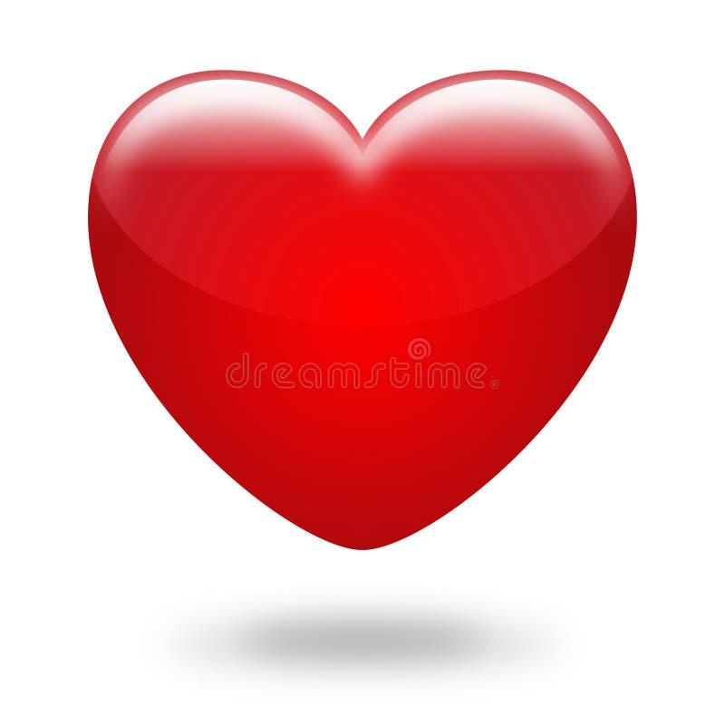 красный цвет сердца иллюстрация штока