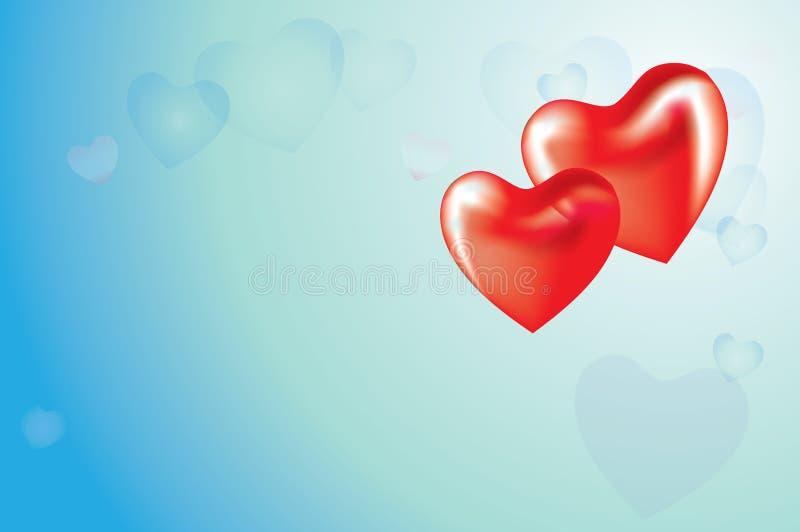 красный цвет 2 сердца бесплатная иллюстрация