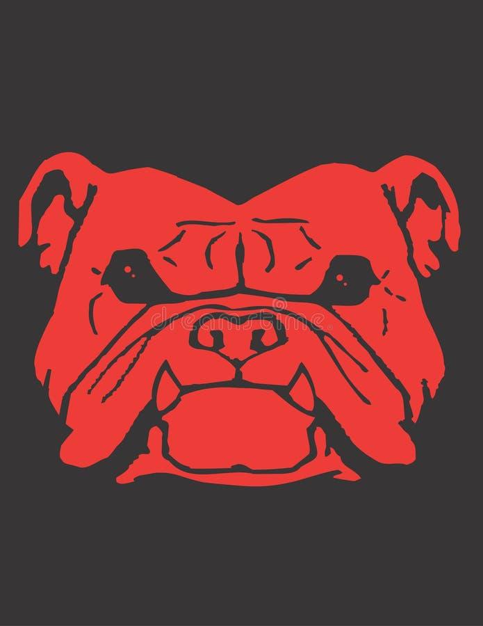 красный цвет собаки быка иллюстрация штока