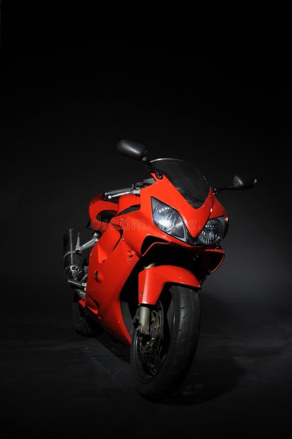 Красный цвет спорта Moto стоковые фотографии rf
