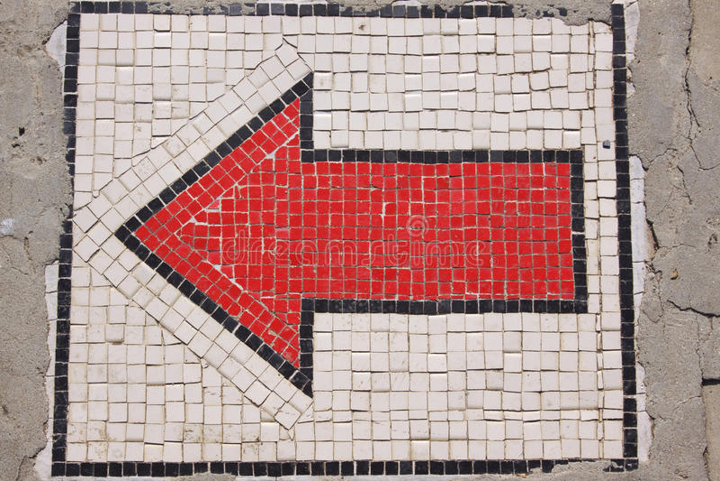 красный цвет стрелки стоковое изображение rf