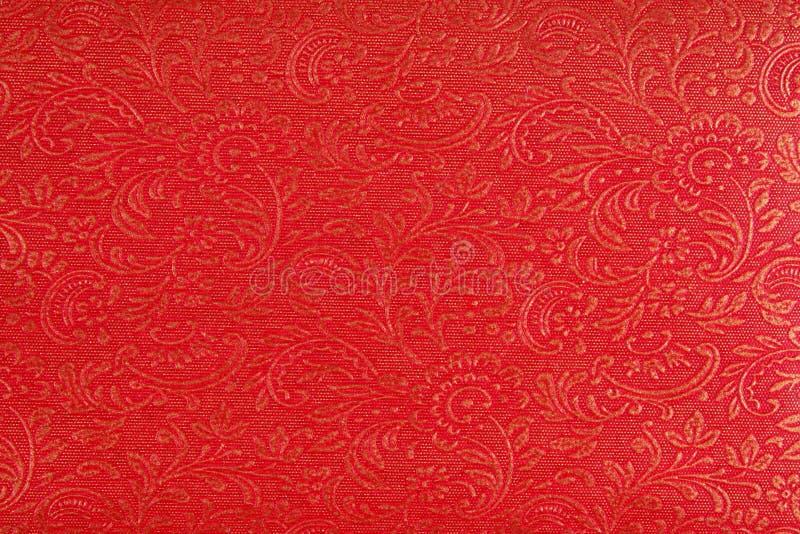 красный цвет ткани конструкции этнический стоковые изображения rf