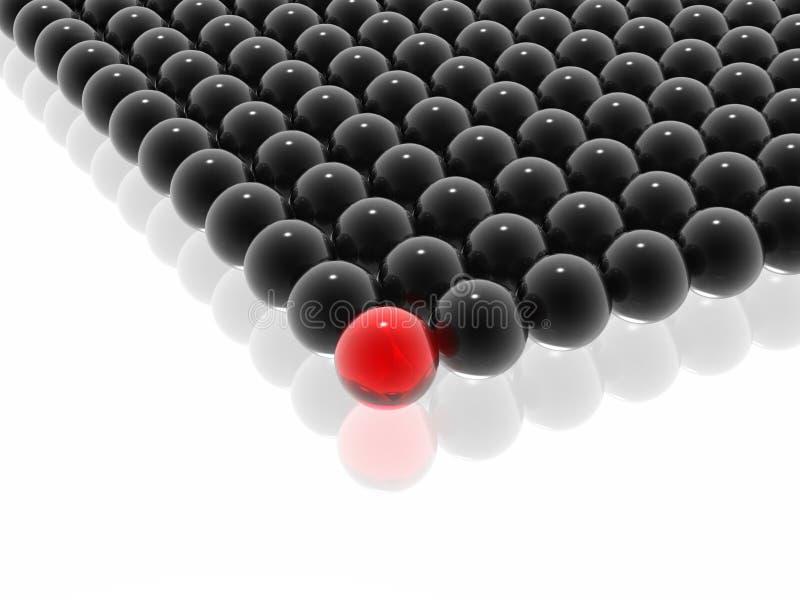 красный цвет управления руководителя иллюстрация вектора