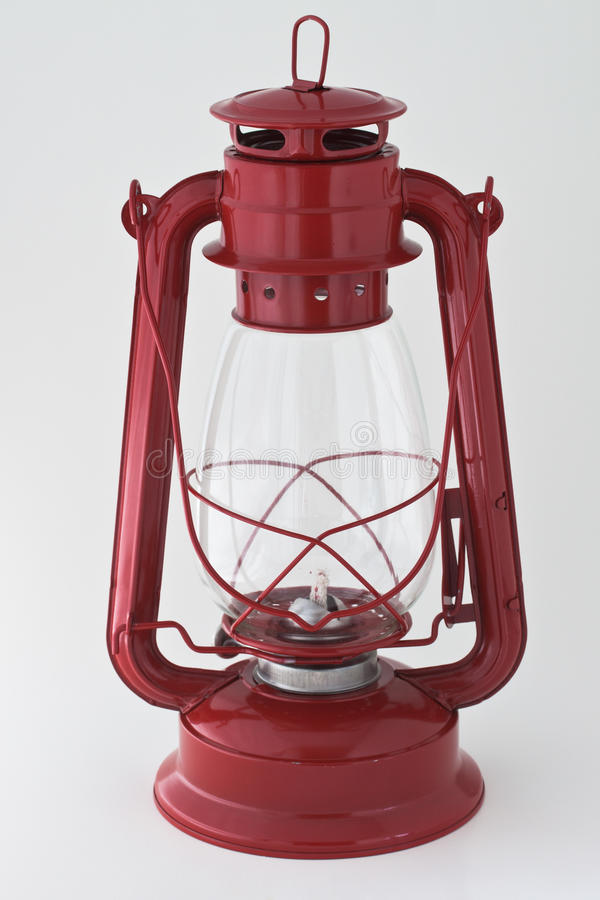 красный цвет фонарика керосина стоковое изображение rf