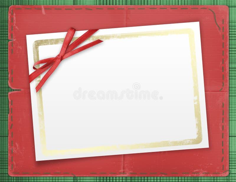красный цвет фото приглашений рамок смычка стоковое фото rf