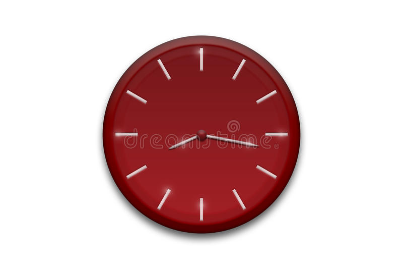 красный цвет часов стоковое фото